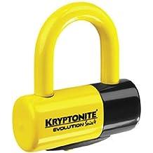 New Kryptonite Evolution Series 4 Disc Lock Motorcycle Security/Lock, Yellow by Kryptonite