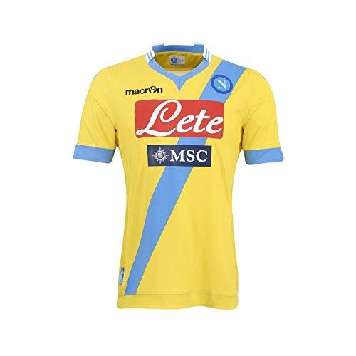 Napoli Amarilla 2013 Camiseta Macron Amarillo Competición Ssc 14 Tercera 3rd ZAvxwTq5