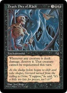 Death Pits of Rath (Magic the Gathering : Tempest Rare) (The Death Pit)