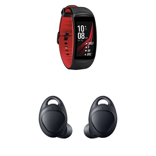 Samsung Pro Smart Fitness Band (Small), SM-R365NZRNXAR With Gear IconX Cord-free Fitness Earbuds