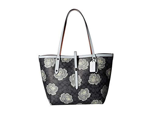 COACH Women's Market Tote in Coated Canvas Signature Dk/Charcoal Sky One -