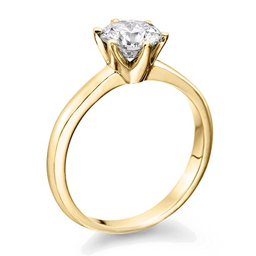 12 ct IGI Certified 14K White Yellow Gold RoundBrilliantCut