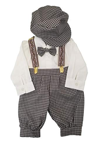 iGirldress Vintage Dress Suit-Tuxedo Knickers Outfit Set Baby Boys & Toddler 24mos Beige/Ivory
