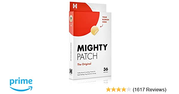Mighty Patch Original - Hydrocolloid Acne Pimple Patch Spot Treatment (36  count) for Face, Vegan,