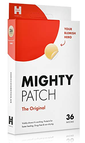 (Mighty Patch Original - Hydrocolloid Acne Pimple Patch Spot Treatment (36 count) for Face, Vegan, Cruelty-Free, 50% Better Absorption)