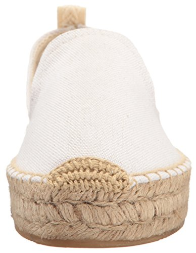 Soludos Smoking Platform Slipper White Women's UXXgqwS