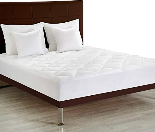 Utopia Bedding Premium Mattress Pad (Full) - Quilted Fitted Mattress Topper Stretches Up To 15 Inches Deep - Plush and Soft Mattress Protector and Cover with Deep Pockets