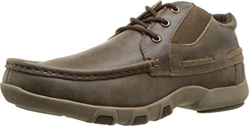 ROPER Men's Docks Lace-Up Shoes Moc Toe Brown 12 D ()