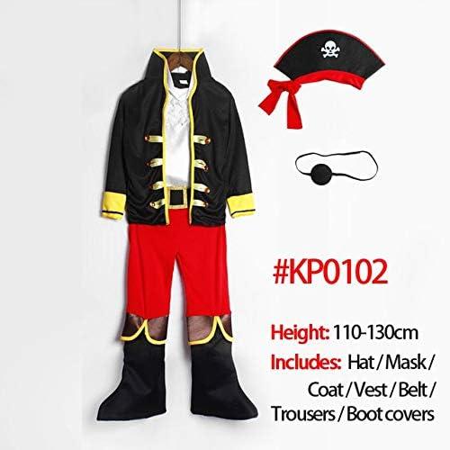 QZXCD Capa de Halloween Disfraz de Pirata Día del niño Niños Niños ...