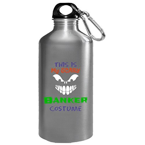 This Is My Scary Banker Halloween Costume - Water Bottle -
