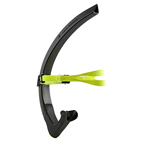 Aqua Sphere MP Michael Phelps Focus Swim Snorkel, Black Neon