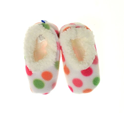 Snoozies y agradable al tacto diseño de mujer con zapatillas para bebés - - Multi Dots