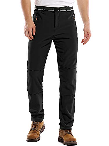 Jessie Kidden Hiking Pants Mens,Waterproof Fleece Ski Snow Insulated Soft Shell Pants