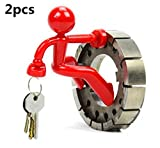 2 Pcs Novelty Red Man Style Wall Climbing Strong Magnetic Key...