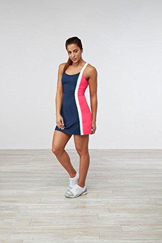 Fila Women's Heritage Dress, Navy, Diva Pink, White, Mint, XS