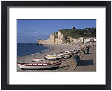 Amazon Com Robertharding Framed 20x16 Print Of Beach And Falaise