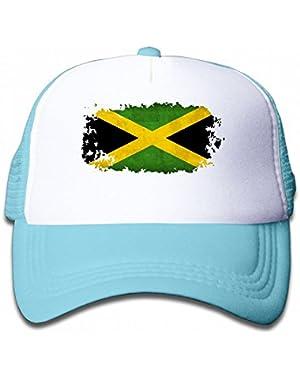 Jamaica Vintage Reggae Youth Toddler Mesh Hats Kid Baseball Trucker Cap