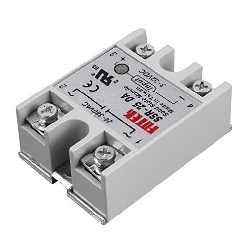 - Artshu Solid State Relay Module SSR-25DA 25A /250V 3-32V DC Input 24-380VAC Output