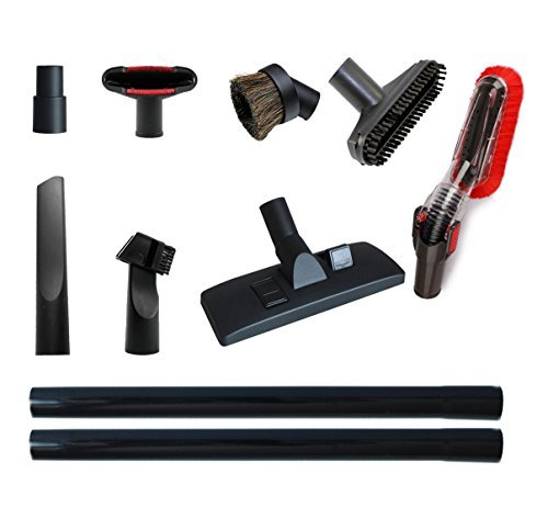 Vacuum Attachments Accessories Cleaning Kit Vacuum Brush Nozzle Crevice Tool VAC Upholstery Tool Hose Adapter Dusting Brush for 1 1/4 inch& 1 3/8 inch Standard Hose ()
