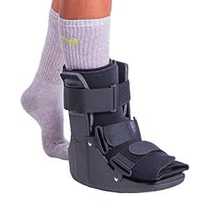 how to put boot over foot splint