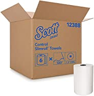 Scott Control Slimroll Hard Roll Paper Towels (12388) with Fast-Drying Absorbency Pockets, White, 6 Rolls / Ca