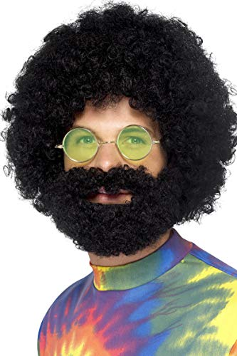 Smiffys Groovy Dude Afro Wig and Beard ()