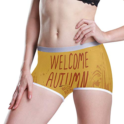 HangWang Welcome Autumn Boyleg Panties Womens Boyshort Underwear Soft Boxer Briefs Boy Shorts ()
