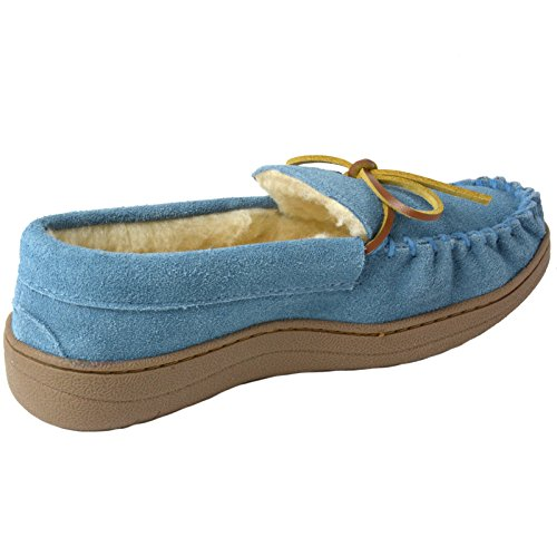 Pictures of alpine swiss Sabine Womens Genuine Suede Shearling By Alpine Swiss 3