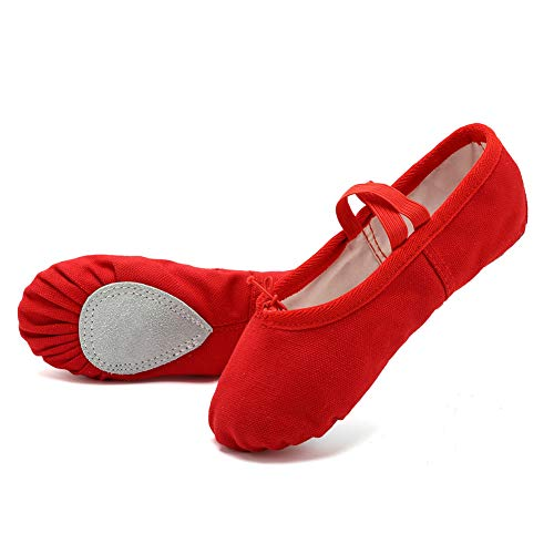 e02f9452bf01 EQUICK Girls'/Women's Ballet Shoes Canvas Ballet Slippers Dance Shoes  Classic Split-Sole