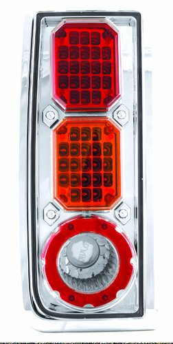 IPCW LEDT-343CA Crystal Red/Amber/Clear LED Tail Lamp - Pair
