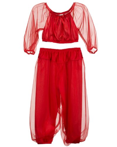 Jeannie Costumes For Kids (Laura Dare Little Girls Red Jeannie Genie Costume PJ Set, 2T)