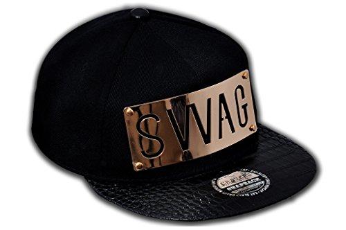 Cravers Men #39;s Swag Snapback Cap  Black, Medium