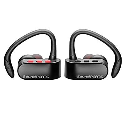 SoundPEATS Wireless Earbuds, True Wireless Stereo Bluetooth 4.2 Headphones Cordless Earphones Sweatproof In-Ear Headset with Mic, Secure Fit for Sports(Upgraded Version)