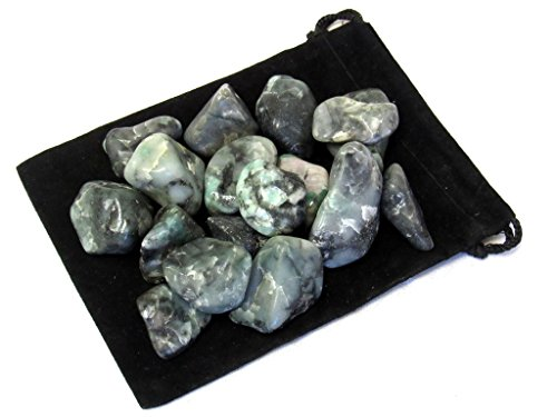 Zentron Crystal Collection: 1 Pound Tumbled Emerald (May Emerald Crystal)
