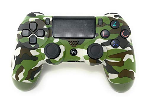 PS4 Controller V2 CHASDI Wireless Bluetooth with USB Cable for Sony Playstation 4 Compatible with Windows PC & Android OS Camouflage (Green Camo)