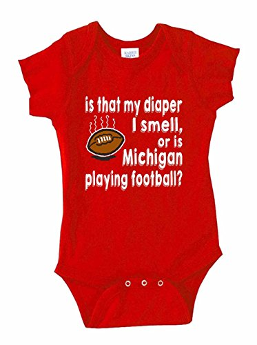 Ohio State Fan Baby Bodysuit Is That My Diaper or is Michigan Playing Football - Red