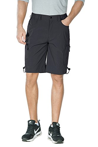 Unitop Men's Lightweight Breathable Soft Quick Dry Climbing Crago Shorts Gray ()