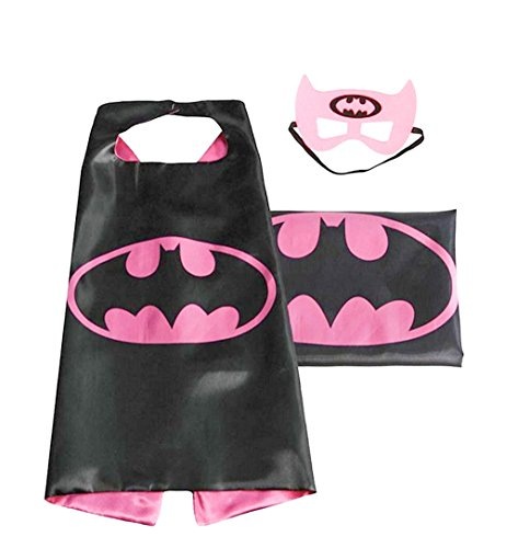 [(Batgirl) ROXX Cape and Mask Costume for Child Superhero Superman Kids Girl And Boy] (Costumes Superman)