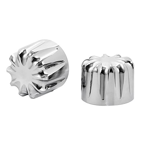 Senkauto Front Axle Cap Nut Cover For Harley Sportster Touring Dyna Touring Softail Electra Street Glide (Chrome 01) by Senkauto (Image #1)