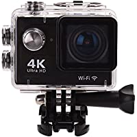 Gentman 4K Action Camera Ultra HD WIFI Sport Action Cam Waterproof DV Camcorder 12MP 170 Degree Wide Angle Lens with 2 Inch LCD Screen Include Accessories Kits Portable Package