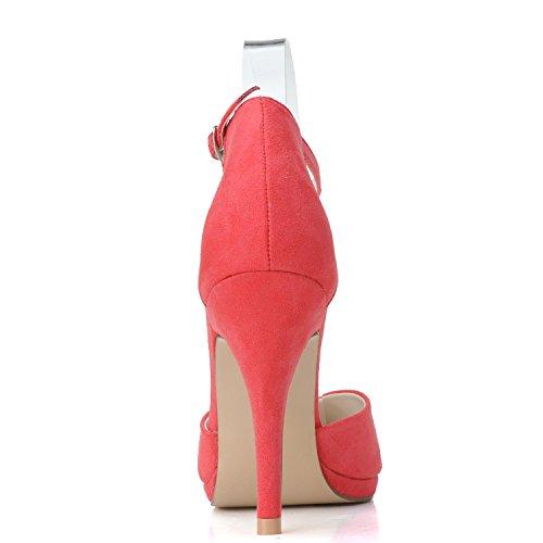 L@YC Tacones altos De La Plataforma De Las Mujeres Zapatos De La Boda De Gama alta HX-0255-21 De La Manera aduana Champagne