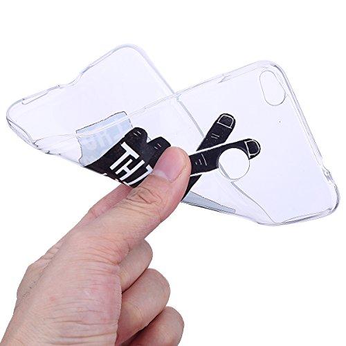 Funda Huawei P8 Lite 2017,SainCat Moda Alta Calidad suave de Relieve Pintura TPU Silicona Suave Funda Carcasa Barniz TPU Silicona Flexible de Ultra Delgado Ligero Goma Case Cover Caja Suave Gel Shock  Letras de dedos