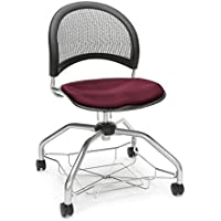 OFM Moon Foresee Series Chair with Removable Fabric Seat Cushion - Student Chair, Burgundy (339)