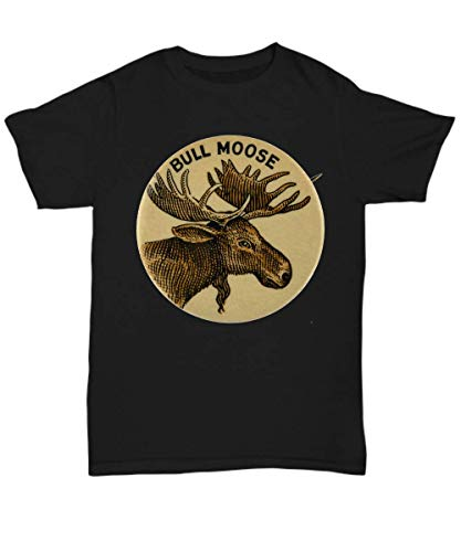 Bull Moose Party Vintage Campaign Button - Unisex Tee Black