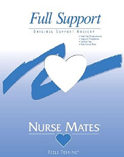 Nurse Mates – Womens – Full Support Hosiery (C, White)