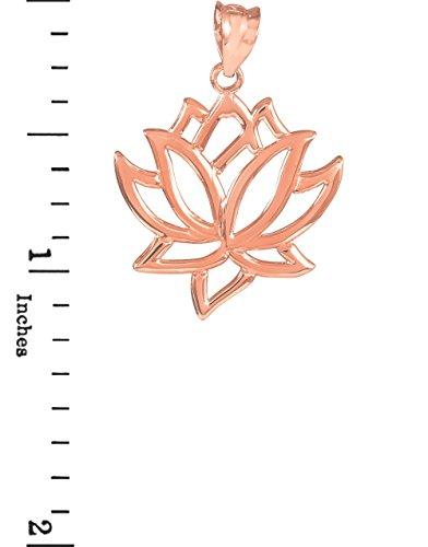 Fleur Collection pour femme 10K Or rose Pendentif en forme de fleur de lotus