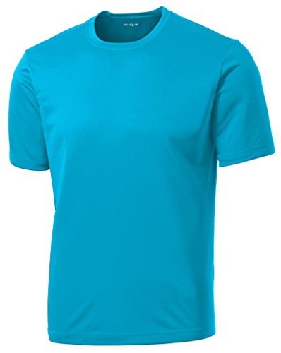(Dri-Equip(tm) Youth Athletic All Sport Training Tee Shirt,L-AtomicBlue)