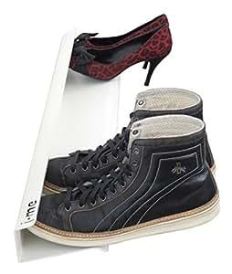Amazon Com J Me Horizontal Shoe Rack Wall Mounted Shoe