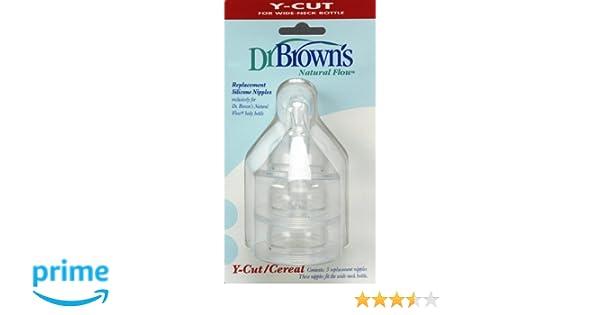 Dr Browns - Tetina Boca Ancha Corte Y Dr Browns 9m+ 2 uds: Amazon.es: Bebé
