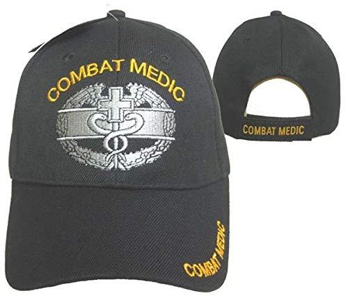 Combat Medic Ball Cap Hat Black Baseball Embroidered 3D (Licensed) CAP633 (TOPW)